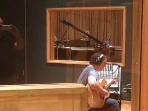 Gordie Sampson putting down some Acoustic tracks